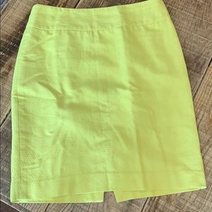The Limited skirt. Yellow. Size 6.
